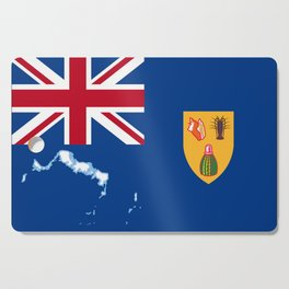 Turks and Caicos Islands TCI Flag with Island Maps Cutting Board