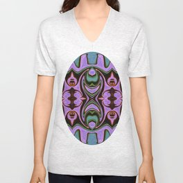 Spiritual Guides Abstract Dimensional Artwork Unisex V-Neck