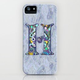 The Letter H iPhone Case