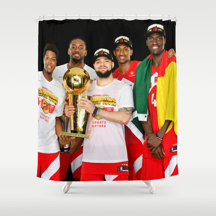 FINALS CHAMPIONS RAPTORS 4 Shower Curtain