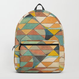 Triangles and Circles Pattern no.23 Backpack