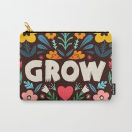 GROW floral Carry-All Pouch