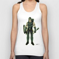 green arrow Tank Tops featuring Green Arrow by The Vector Studio