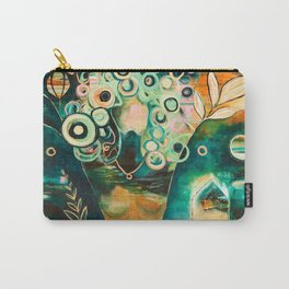 """Thirty Six"" Original Painting by Flora Bowley Carry-All Pouch"
