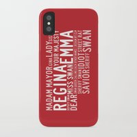 swan queen iPhone & iPod Cases featuring Swan Queen Nicknames - Red (OUAT) by CLM Design