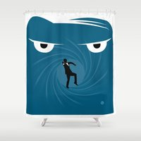 skyfall Shower Curtains featuring SKYFALL by Alain Bossuyt