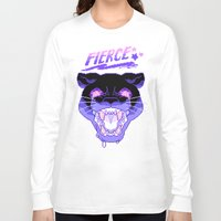 fierce Long Sleeve T-shirts featuring FIERCE by Ginseng&Honey
