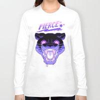 fierce Long Sleeve T-shirts featuring FIERCE by Ginseng&Honey