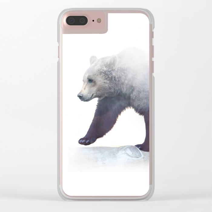 Wild Bear Clear iPhone Case