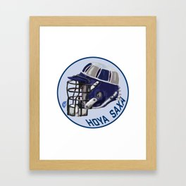 Hoyas Bucket Helmet Framed Art Print