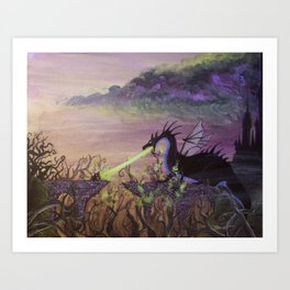 Maleficent's Wrath Art Print
