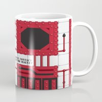 rocky horror picture show Mugs featuring Rocky Horror Control Panel by Shawn Hall Design