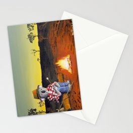 Sitting Near the Fire Stationery Cards