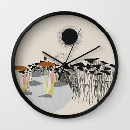 Drippy hills Wall Clock