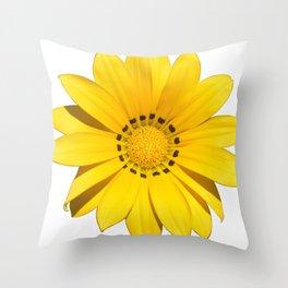 Yellow flower / dots Throw Pillow