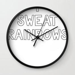 Color Run I Sweat Rainbows Fun Run Wall Clock