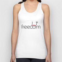 brompton Tank Tops featuring Brompton Freedom by Abraham Wish