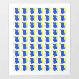 flag of canary islands-canaries,canary,atlantic,canarias,Canarian,canario,canaria,spain,spanish, Art Print