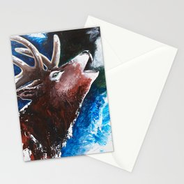 Deer - Valentine - animal by LiliFlore Stationery Cards