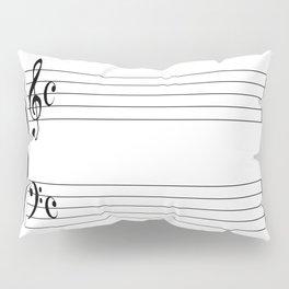 Blank Music Stave Pillow Sham