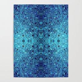 Deep blue glass mosaic Poster