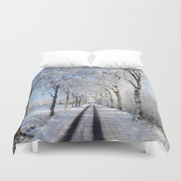Winter-avenue Duvet Cover