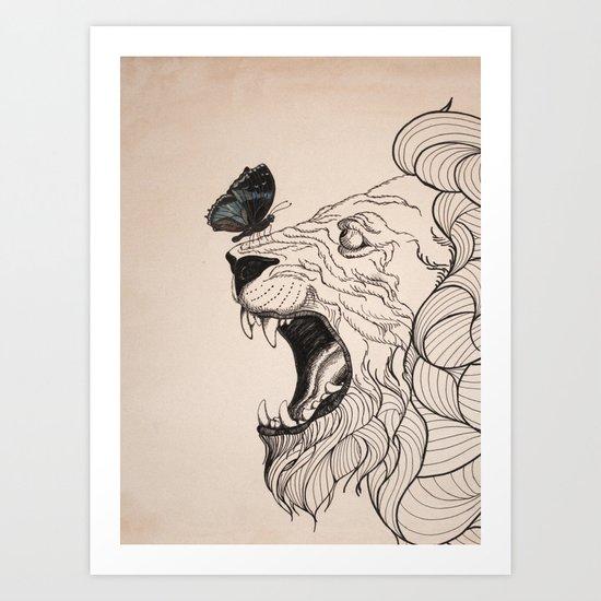 Rage - Portrait Art Print