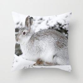 The white beast Throw Pillow