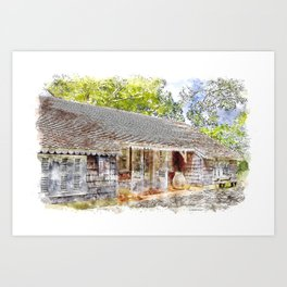Caribbean Homestead Art Print