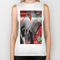 boxing Biker Tanks featuring Boxing by Robin Curtiss