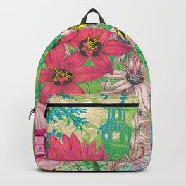 Celestial Garden Dancer Floral Nature Artwork Backpack
