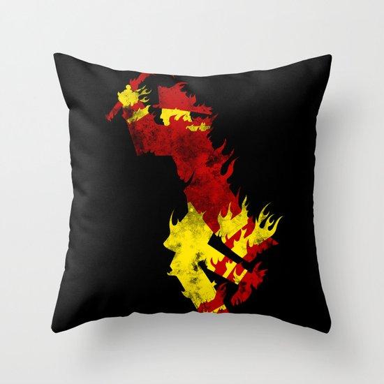 literal fireman Throw Pillow