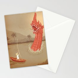 Th Naga Of Pin River Stationery Cards