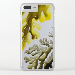 Corals, acrylic ink on canvas Clear iPhone Case