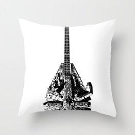 Rebel Bass Throw Pillow