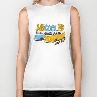 vw bus Biker Tanks featuring VW Camper Van Surf Bus by VelocityGallery