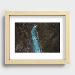 phakding, nepal Recessed Framed Print