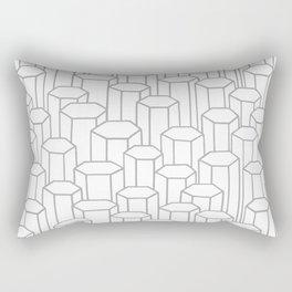 3D Hexagon Pattern Rectangular Pillow