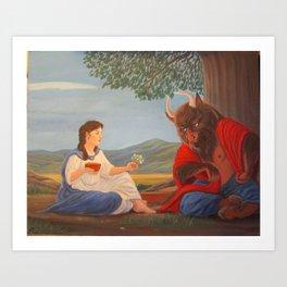Ferdinand the Minotaur - 2nd version Art Print