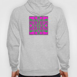 Bold, beautiful and graphic design magenta and green cube art Hoody