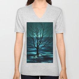 Tree in Ocean Unisex V-Neck