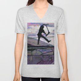 Deck Grab Champion - Stunt Scooter Art Unisex V-Neck