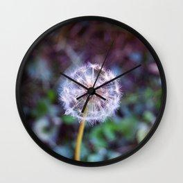 (almost) ripe dandelion Wall Clock