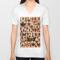 bugs V-neck T-shirts featuring Love Bugs by Angela Rizza