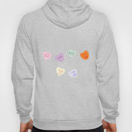 Sketch Candy Hearts Hoody