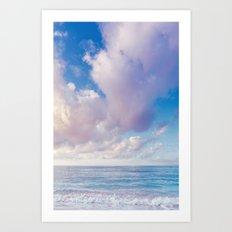 beach ver.pink Art Print