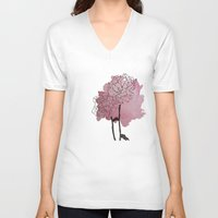 peonies V-neck T-shirts featuring peonies by morgan kendall