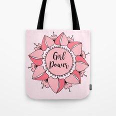 Girl Power Pink Mandala Tote Bag