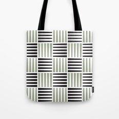Midcentury crosshatch pattern Tote Bag