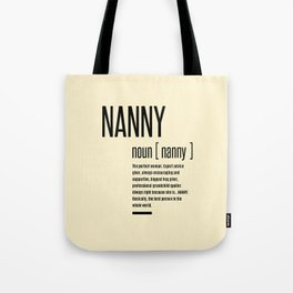 Nanny Definition Grandma Mothers Day Gifts Women  Tote Bag
